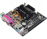 Мат.плата с процессором AsRock J3455B-ITX, Intel Celeron J3455 (4x2.3 GHz), 2xDDR3 SO-DIMM, Intel HD 500, 2xSATA3, 1xPCI-E 16x, ALC887, RTL8111GR,