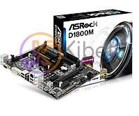 Мат.плата с процессором ASRock D1800M, J1800 (2x2.41 GHz), 2xDDR3, Int.Video, 2xSATA2, 1xPCI-E 16x, 2xPCI-E 1x, RTL8111GR, ALC662, 1xUSB3.0/6xUSB2.0,