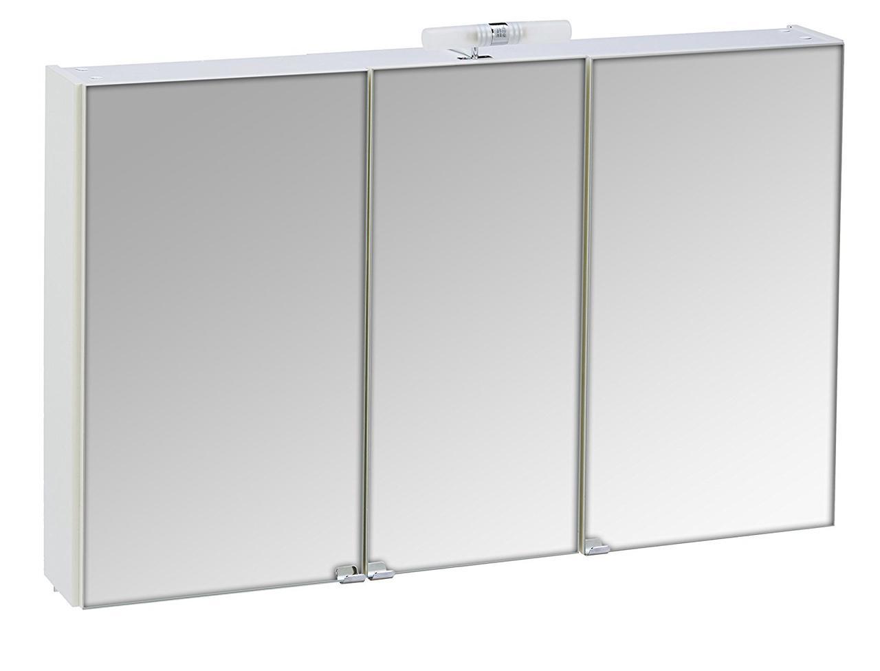 Зеркальный шкаф 3 двери, 110 x 68 x 16 см, белый