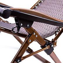 Шезлонг туристический HY-8009-3 раскладушка кресло лежак для дачи пикника 200*68, фото 3