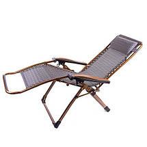 Шезлонг туристический HY-8009-3 раскладушка кресло лежак для дачи пикника 200*68, фото 2