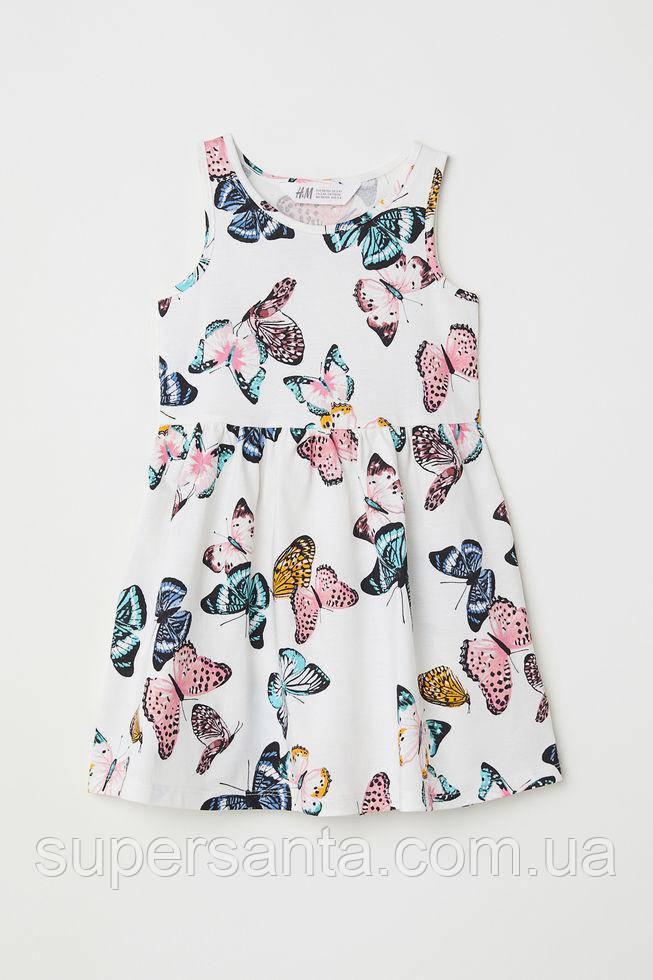 adaabd3182f10 Детский сарафан платье (бабочки) Sleeveless jersey dress 6-8 лет