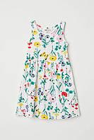 Детский сарафан платье (цветы и бабочки) Sleeveless jersey dress 2-4 лет, HM, фото 1