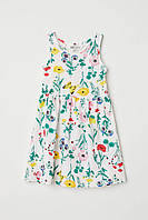 Детский сарафан платье (цветы и бабочки) Sleeveless jersey dress 4-6 лет, HM, фото 1