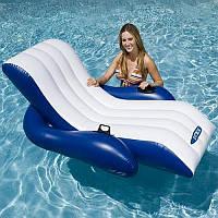 Надувное кресло-шезлонг / Надувной матрац для воды / Надувное кресло / Шезлонг надувной для пляжа и воды