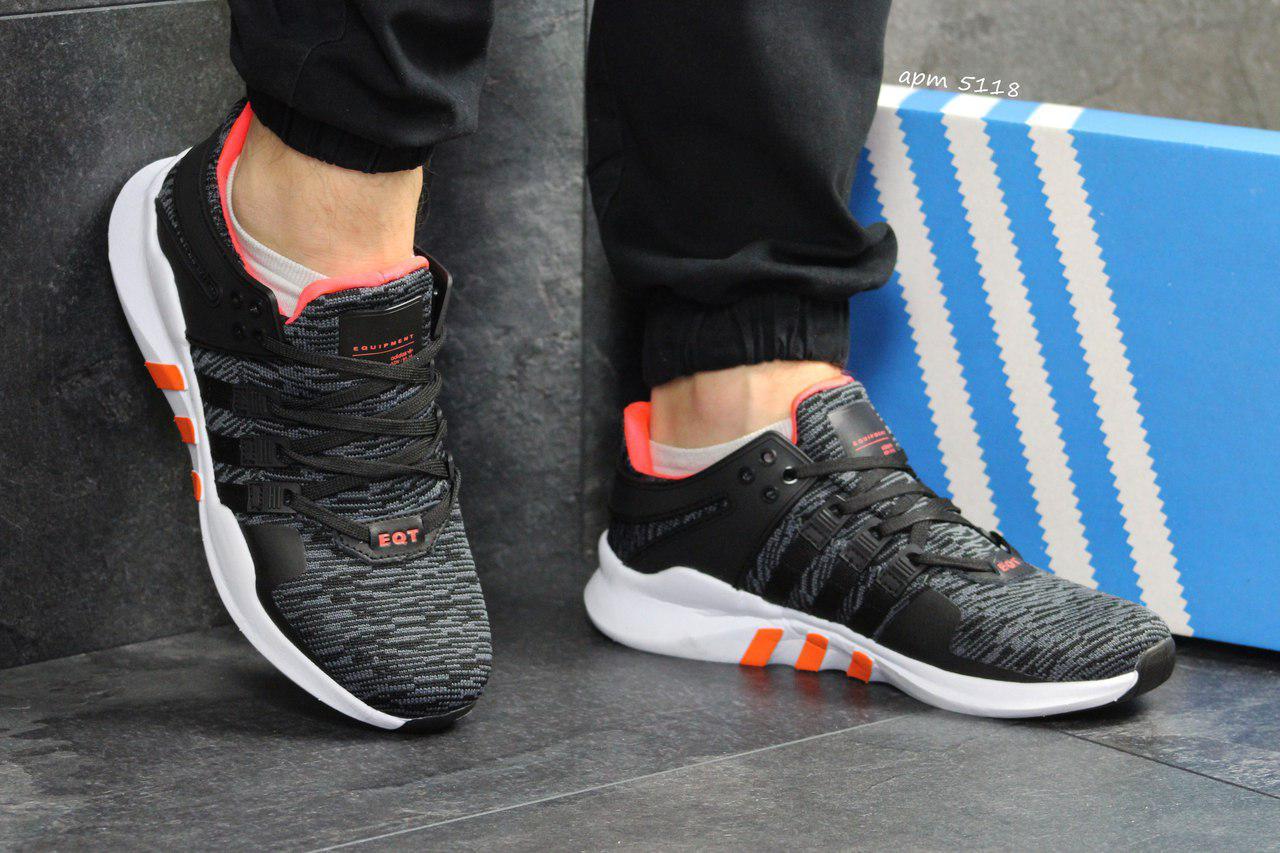 Летние мужские кроссовки Adidas Equipment ADV 91-16,сетка, серые 44р