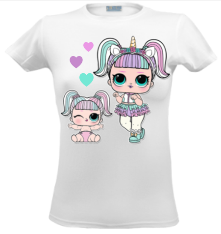 6628da795323a Футболка ЛОЛ реглан одежда с куколками LOL Surprise принт футболки ...