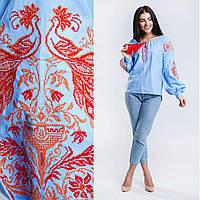 Современная женская блуза с вышивкой, бязь, 540/490 (цена за 1 шт. + 50 гр.)