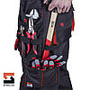 Костюм рабочий SteelUZ куртка и брюки, красная отделка, фото 4