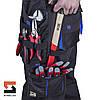 Костюм рабочий SteelUZ куртка и брюки, синяя отделка, фото 8