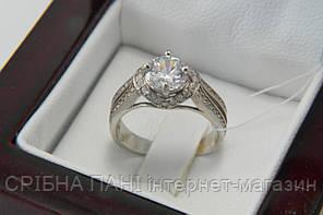 Серебряное женское кольцо с камнями