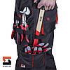Костюм рабочий SteelUZ куртка и полукомбинезон, красная отделка, фото 5