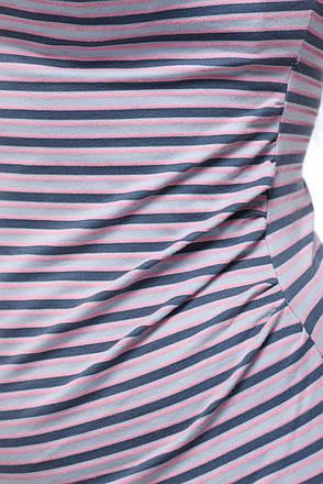 Футболка для беременных серая в розовую полоску, фото 2