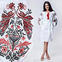Нарядное платье с вышивкой, ткань - бязь, 600/550 (цена за 1 шт. + 50 гр.)