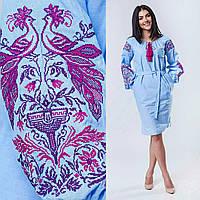Красивое вышитое платье на хлопковой ткани, 600/550 (цена за 1 шт. + 50 гр.)