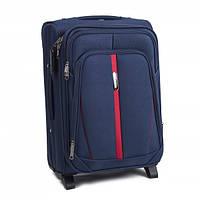 Чемодан сумка Suitcase (небольшой) 2 колеса синий, фото 1
