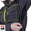 Костюм робочий SteelUZ куртка і штани, чорний оздоблення, фото 7