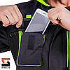 Костюм робочий SteelUZ куртка і штани, чорний оздоблення, фото 8