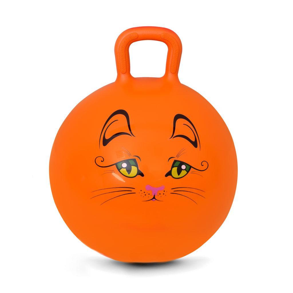 Мяч-прыгун детский с ручкой Spokey Kitty 45см (922737) детский фитбол, гимнастический мяч для фитнеса