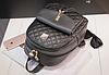 Рюкзак женский стеганый черный, фото 5