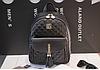 Рюкзак женский стеганый черный, фото 4