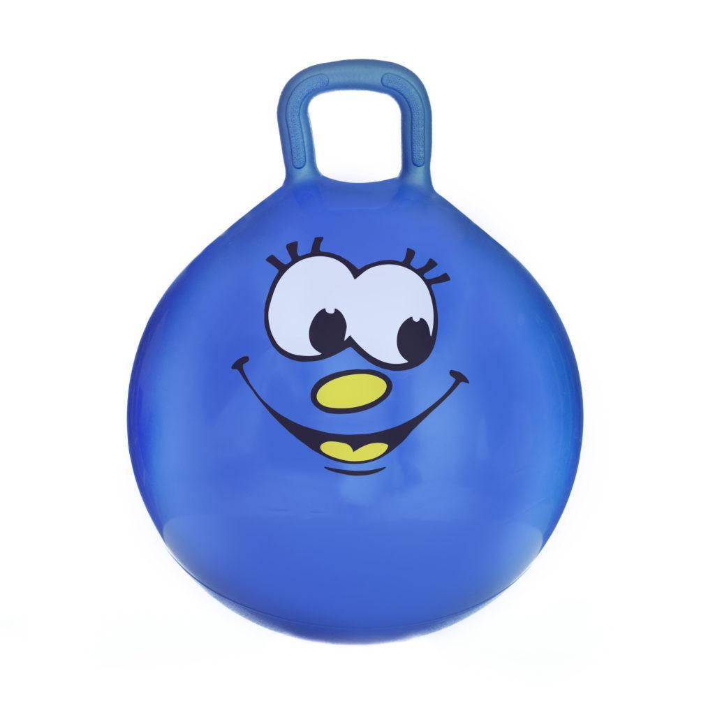 Мяч-прыгун детский с ручкой Spokey Smiling Face 45см (921738) детский фитбол, гимнастический мяч для фитнеса
