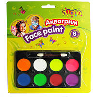 Аквагрим для лица краски Face Paints Kidis 8 цв. 7767