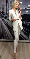 Пиджак женский удлиненный ft-243 белый