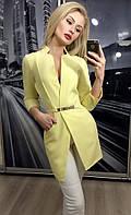Пиджак женский удлиненный ft-243 желтый