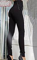 Женские штаны-лосины на шнуровке с боку, фото 1