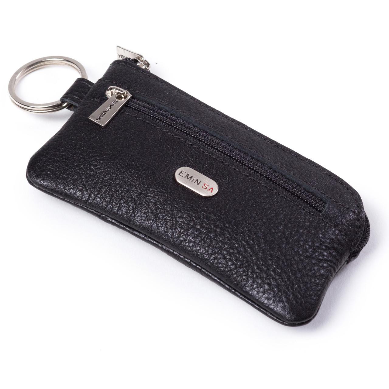 Ключница Eminsa 1502-12-1 кожаная черная