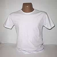 Мужская белая Батальная стрейчевая футболка Lycra пр-во Турция 2890G