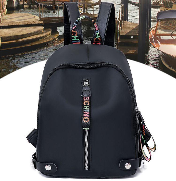Женский вместительный рюкзак Moschino черный
