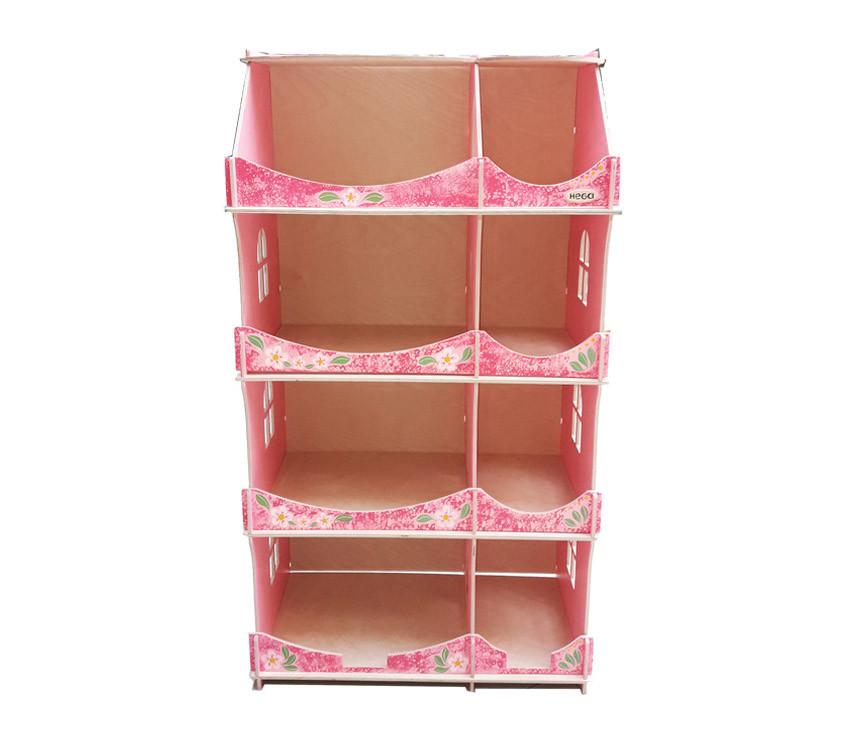 Кукольный домик-шкаф Hega с росписью мраморный (090B1)