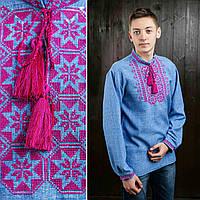 Вышитая рубаха для мужчин с длинным рукавой,  габардин, 350/300 (цена за 1 шт. + 50 гр.), фото 1