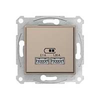 USB розетка SDN2710268 для зарядки 2,1 А титан Sedna Schneider, 4316
