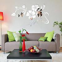 """Наклейка на стену акриловая зеркальная """"Цветок"""" (78х60 см)"""