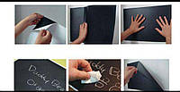 Черная виниловая пленка для поклейки и рисования мелом, фото 1