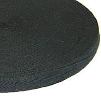 2 см Киперная лента (хлопчатобумажная, черная) - 50м.