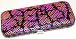 Маникюрный набор из 5 предметов, розовый с черным узором, фото 4