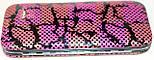 Маникюрный набор из 5 предметов, розовый с черным узором, фото 5