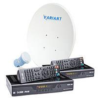 Комплект для сутникового ТВ на 1 спутник для 2-х ТВ «Для Дачи» SD2