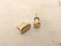 Комплект заглушек в разъем для наушников 3,5 мм и micro USB для смартфона Android, gold, золото