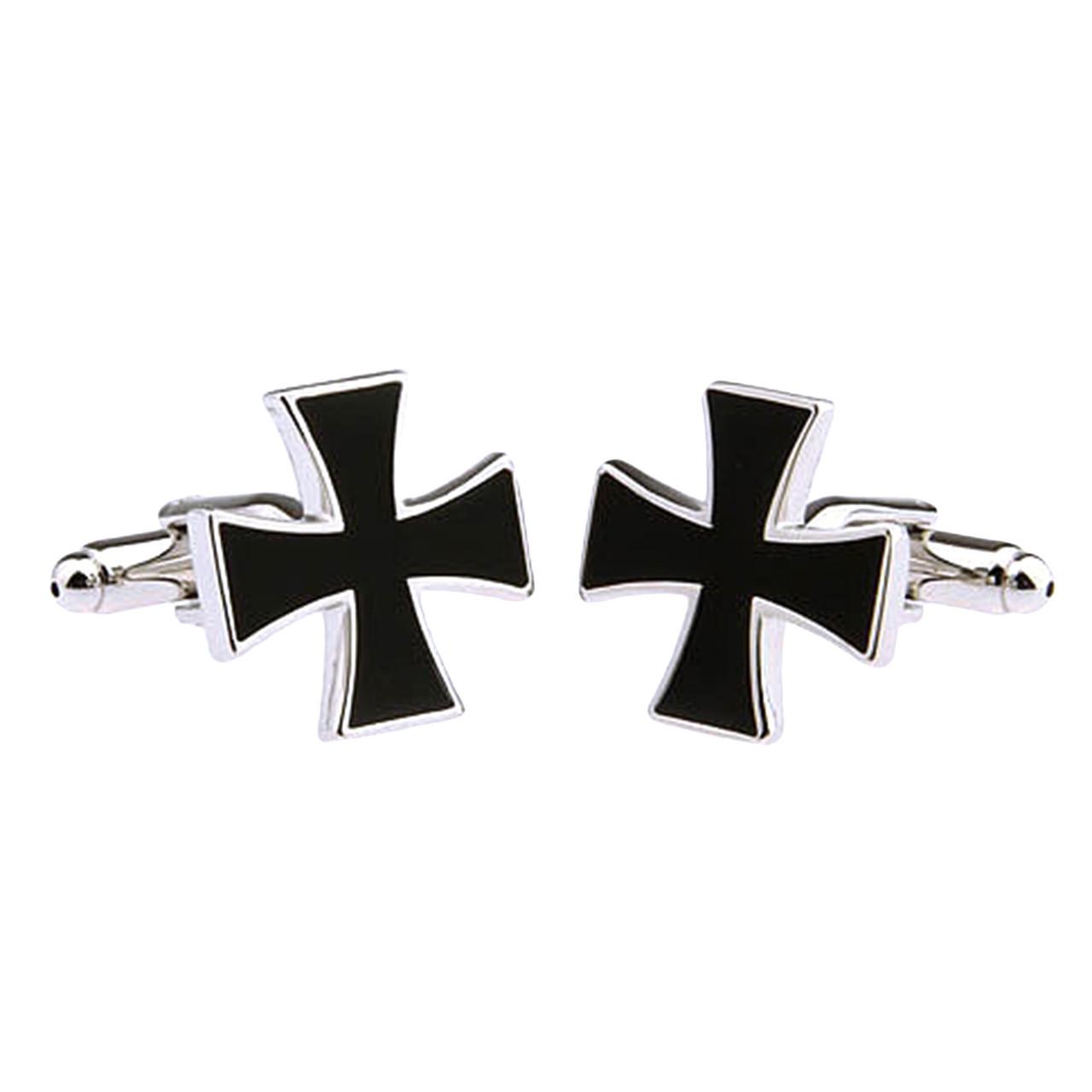 Для всех, кто заслужил Запонки Крест Наградной железный черный крест - Награди себя сам