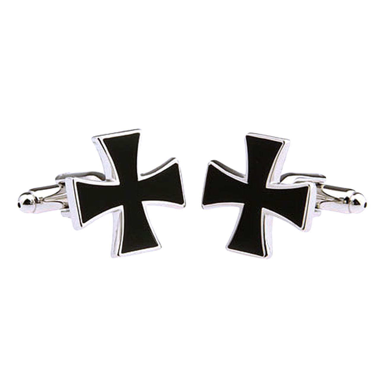 Для всех, кто заслужил Запонки Крест Наградной железный черный крест - Награди себя сам, фото 1