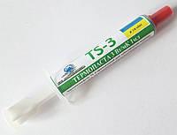 Невысыхающая термопаста TS-3 шприц 1мл=3.3г 3-3,2 Вт/(м•К) от производителя