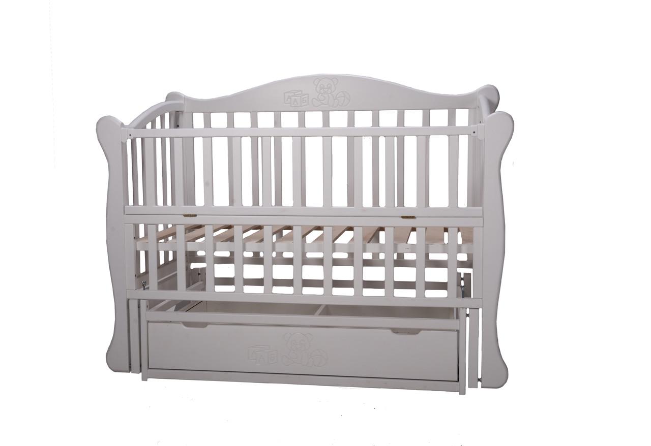 Кроватка детская Тедди белая