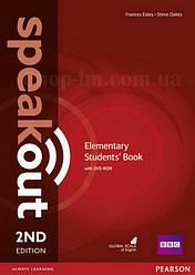 Speakout 2nd Edition Elementary Student's Book + DVD-ROM (учебник с диском, второе издание)
