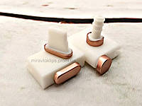 Комплект заглушек в разъем для наушников 3,5 мм и зарядки для смартфона iPhone, rose gold, розовый