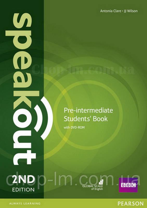 Speakout 2nd Edition Pre-Intermediate Student's Book + DVD-ROM (учебник с диском, второе издание)